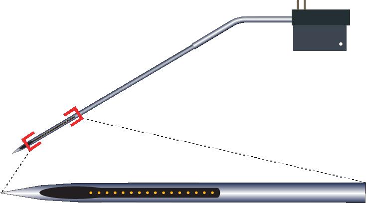 Single 16 Channel Kinked Electrode