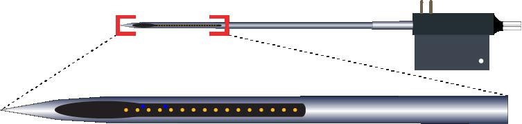 Single 16 Channel Optic Fiber Electrode