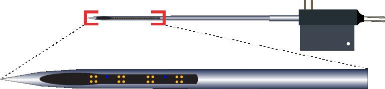 Tetrode 16 Channel Fluid Channel Electrode
