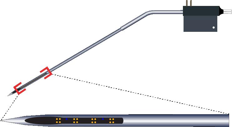 Tetrode 16 Channel Kinked AND Optic Fiber Electrode