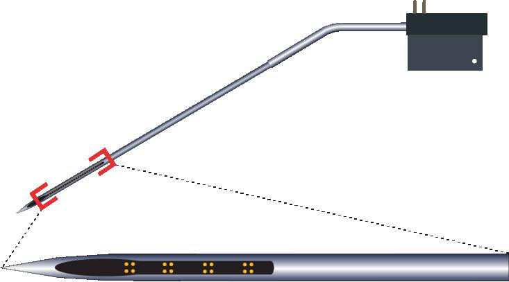Tetrode 16 Channel Kinked Electrode