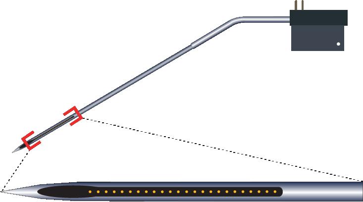 Single 24 Channel Kinked Electrode