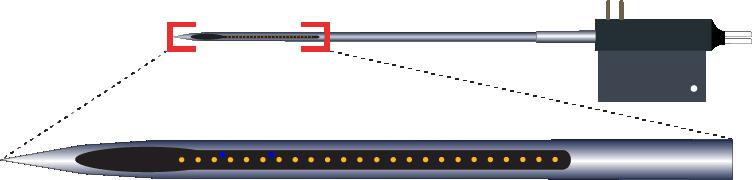 Single 24 Channel Optic Fiber Electrode