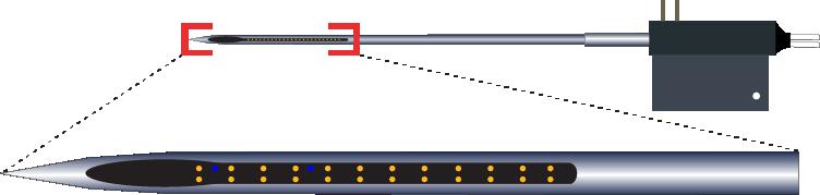 Stereotrode 24 Channel Optic Fiber Electrode