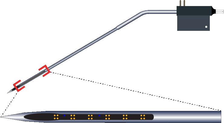 Tetrode 24 Channel Kinked AND Optic Fiber Electrode