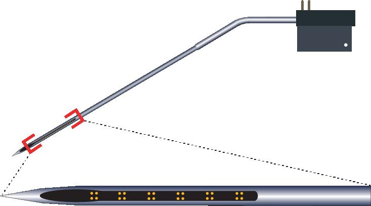 Tetrode 24 Channel Kinked Electrode