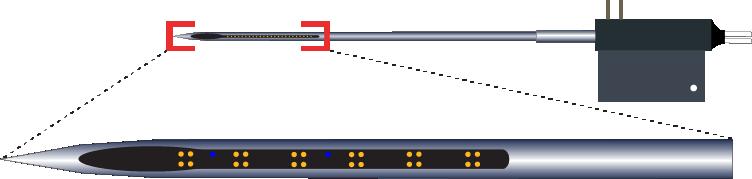 Tetrode 24 Channel Optic Fiber Electrode