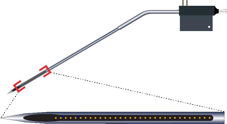 Single 32 Channel Kinked AND Optic Fiber Electrode
