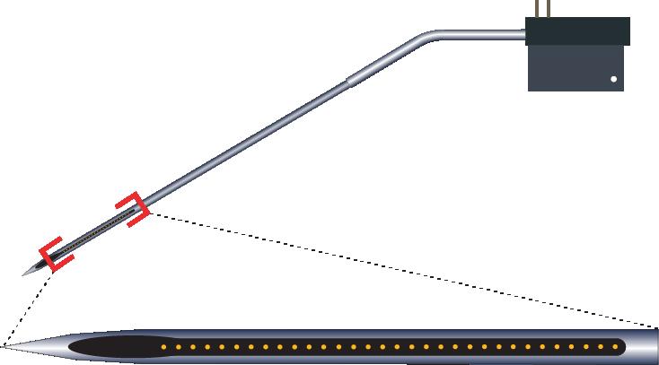 Single 32 Channel Kinked Electrode