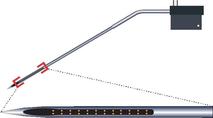 Stereotrode 32 Channel Kinked Electrode