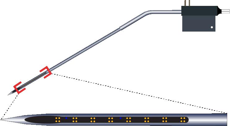 Tetrode 32 Channel Kinked AND Optic Fiber Electrode