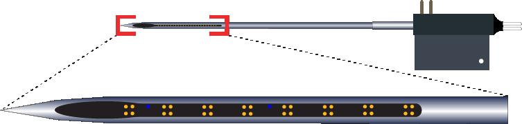 Tetrode 32 Channel Optic Fiber Electrode