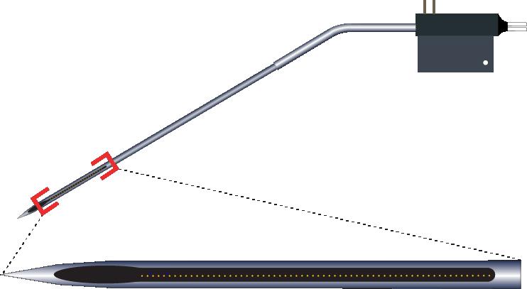 Single 64 Channel Kinked AND Optic Fiber Electrode
