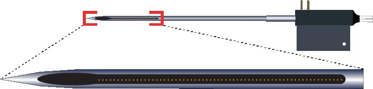 Single 64 Channel Optic Fiber Electrode