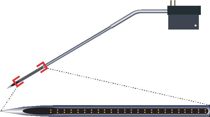 Stereotrode 64 Channel Kinked Electrode