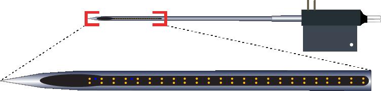 Stereotrode 64 Channel Optic Fiber Electrode