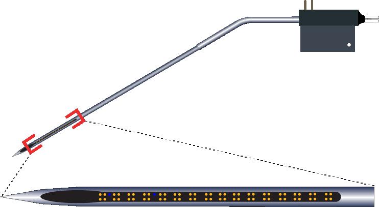 Tetrode 64 Channel Kinked AND Optic Fiber Electrode