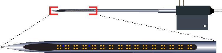 Tetrode 64 Channel Optic Fiber Electrode