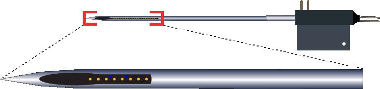 Single 8 Channel Fluid Channel Electrode