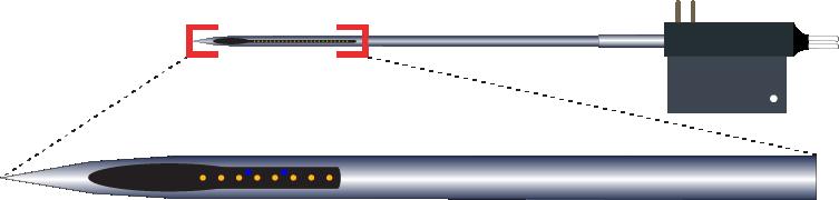 Single 8 Channel Optic Fiber Electrode