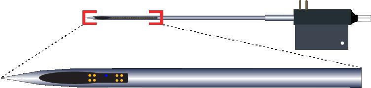 Tetrode 8 Channel Optic Fiber Electrode