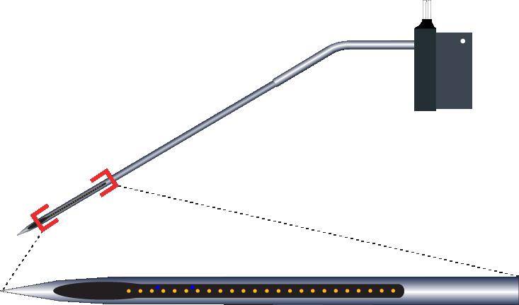 Single 24 Channel Kinked AND RAC AND Optic Fiber